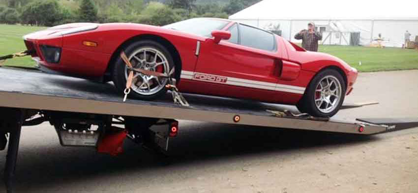 FordGT-exotic-car-flatbed-mississauga-tow-truck-near-me