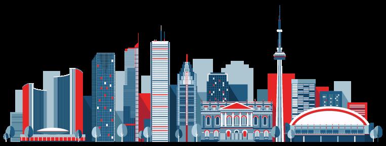 Toronto GTA Mississauga skyline vector